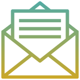 Open envelope with a letter icon